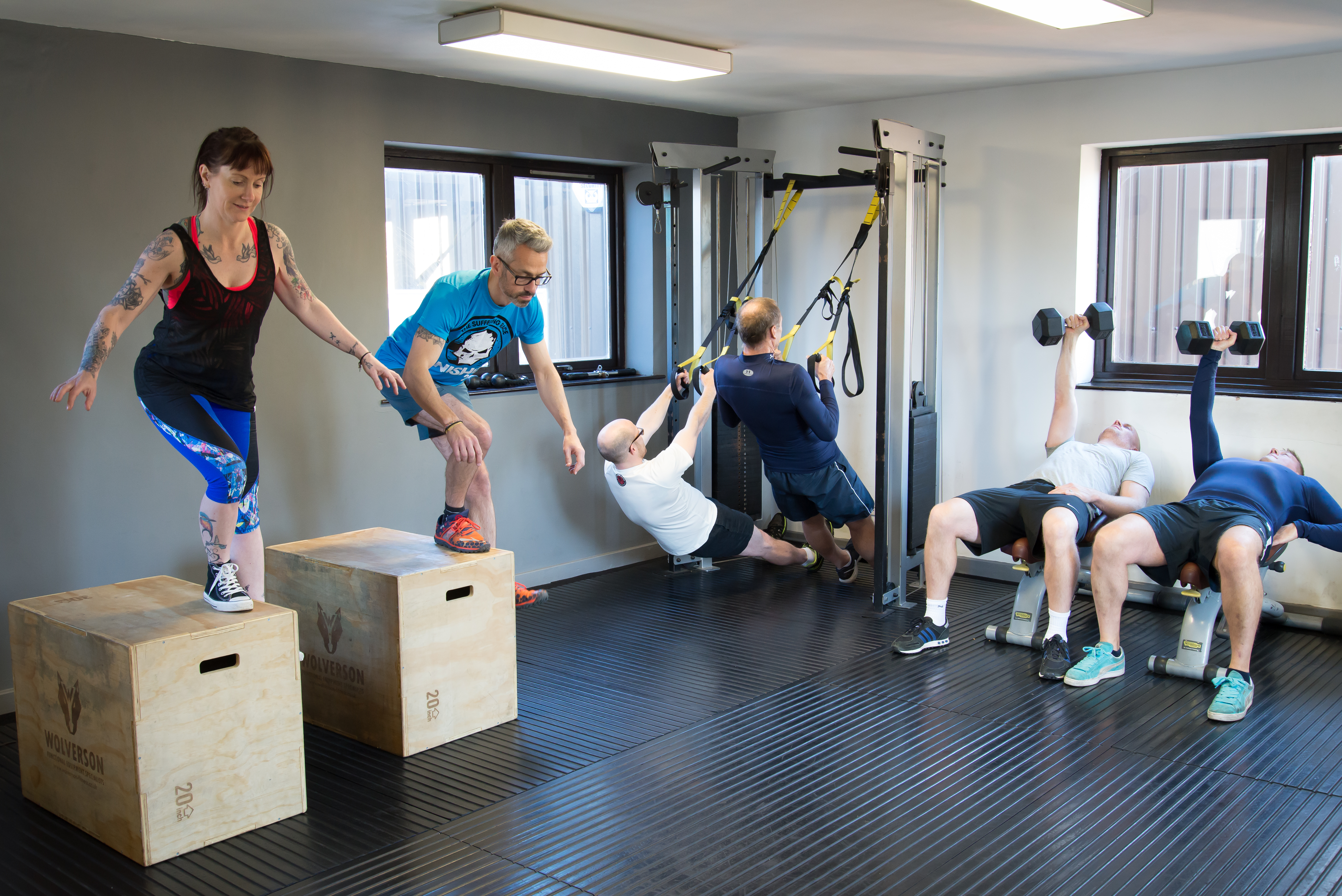 small group personal training in the gym